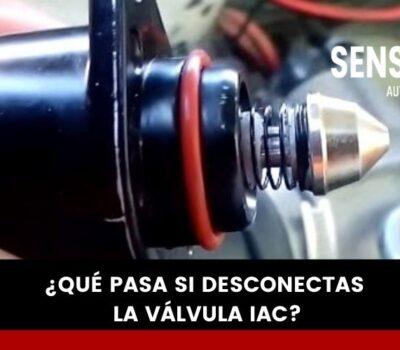 ¿Qué pasa si desconecto la válvula IAC?